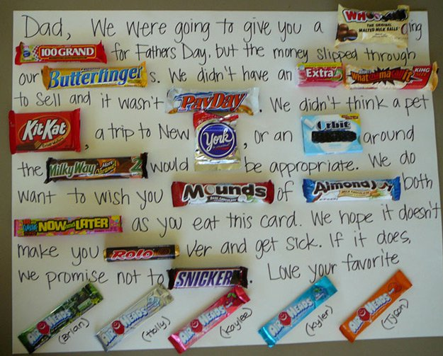 Simple DIY Card Ideas for Father's Day | http://www.foliver.com/diy/21-diy-ideas-for-fathers-day-cards/