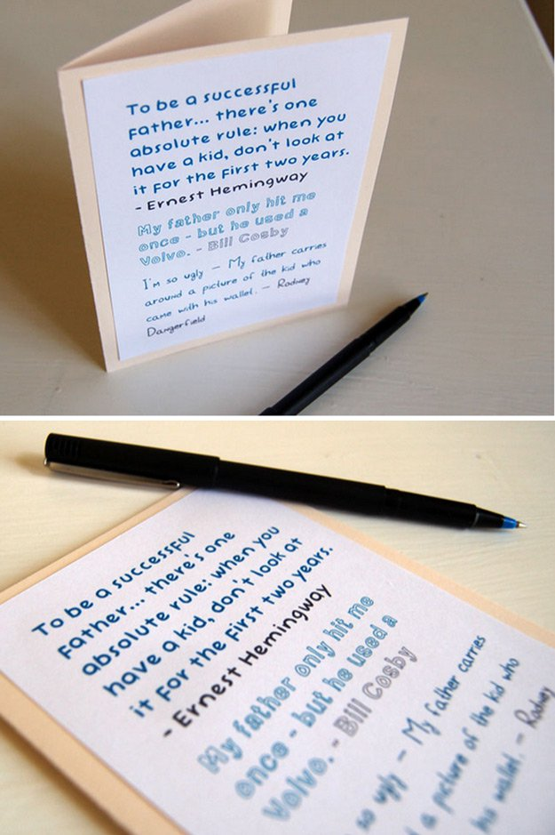 Funny DIY Father's Day Card Ideas | http://www.foliver.com/diy/21-diy-ideas-for-fathers-day-cards/