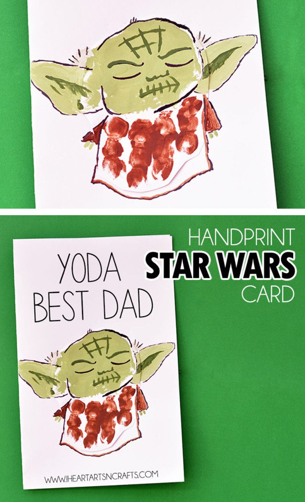 Cool DIY Father's Day Card Ideas | http://www.foliver.com/diy/21-diy-ideas-for-fathers-day-cards/