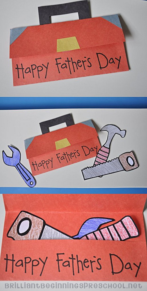 Simple and Easy Father's Day Card Inspiration | http://www.foliver.com/diy/21-diy-ideas-for-fathers-day-cards/