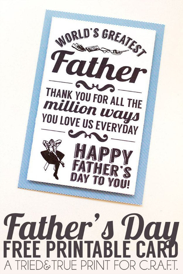 Cool Printable Fathers Day Card Ideas | http://www.foliver.com/diy/21-diy-ideas-for-fathers-day-cards/