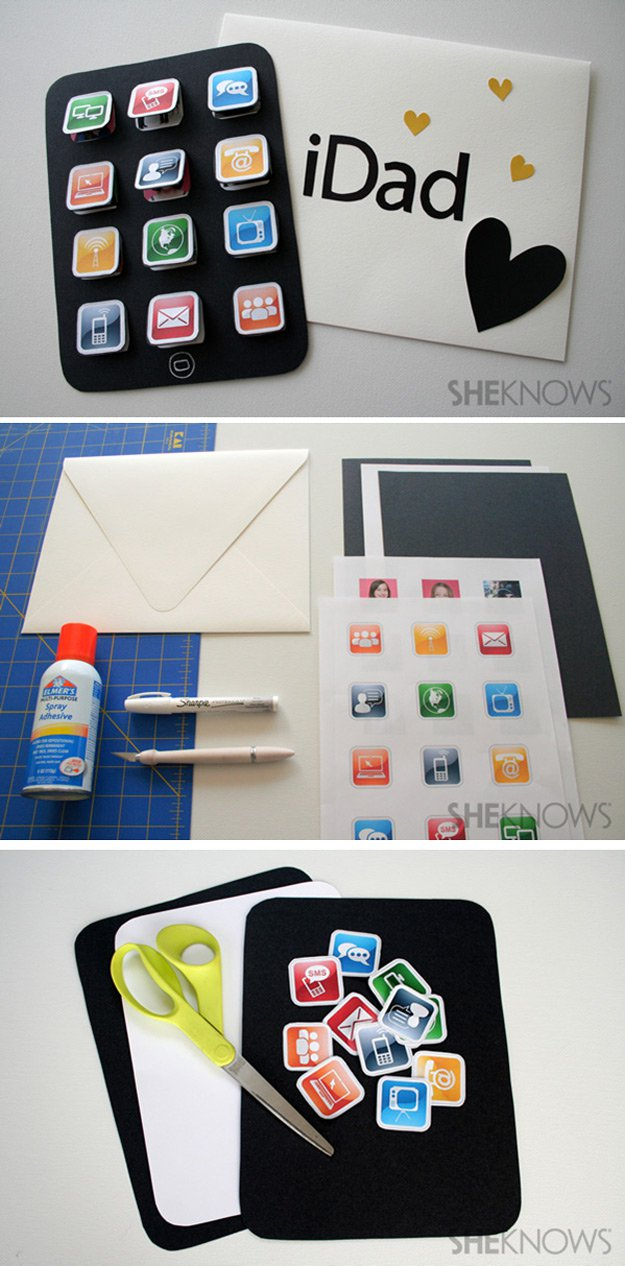 Easy Creative DIY Father's Day Card Ideas | http://www.foliver.com/diy/21-diy-ideas-for-fathers-day-cards/