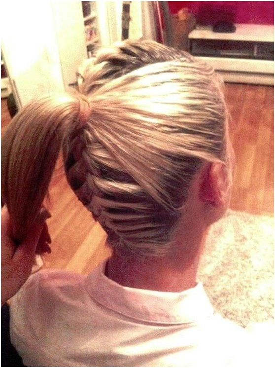 French Braid In Back and On Top with A Ponytail In Back