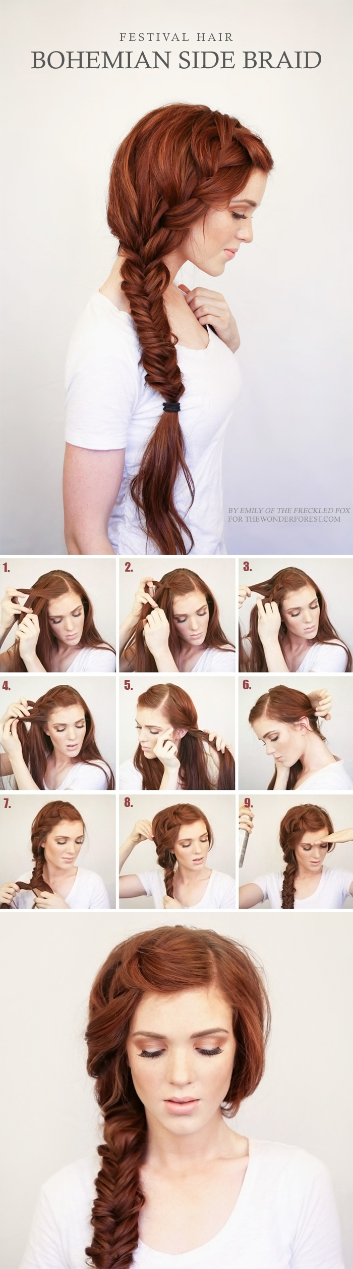 easy diy side braid boho bridal hairstyle idea
