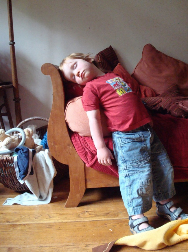 20 photos show that children can sleep anywhere (10)