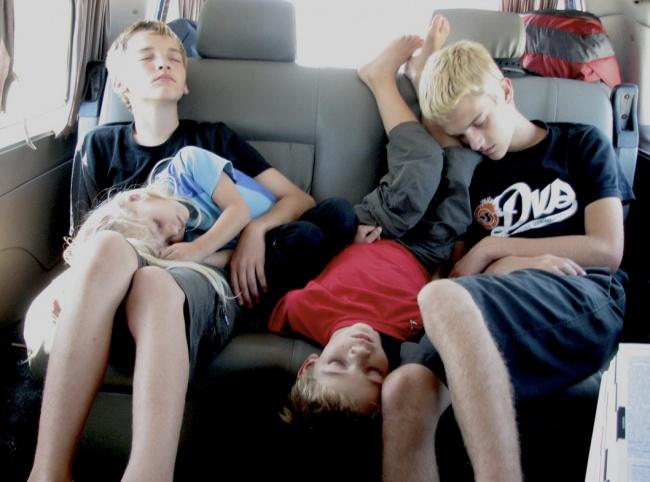 20 photos show that children can sleep anywhere (4)