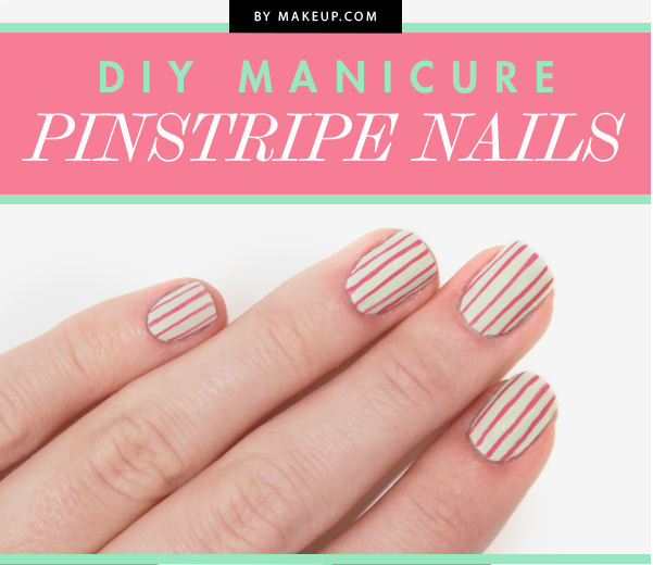 This pinstripe nail looks even better when it's a little crooked.