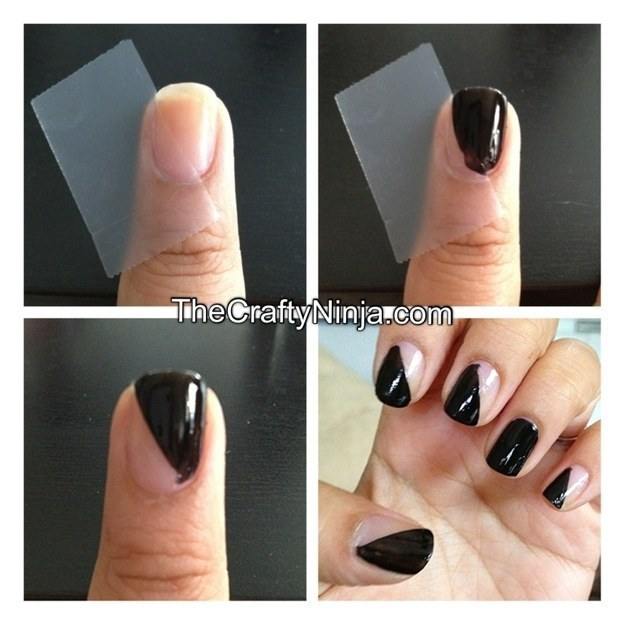 Easy Nail Art For Teenagers With Tape