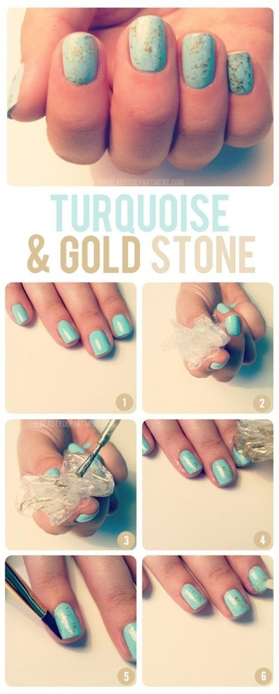 Get this stone look with just some crumpled up plastic.