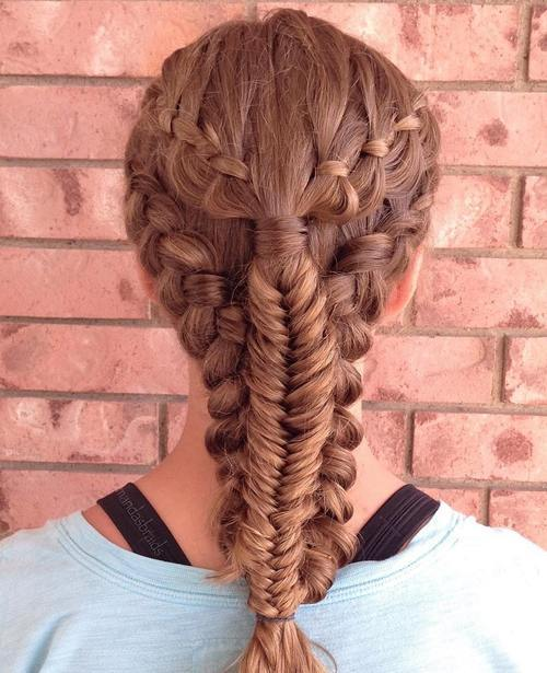 1-sporty-hairstyle-with-fishtail-braid
