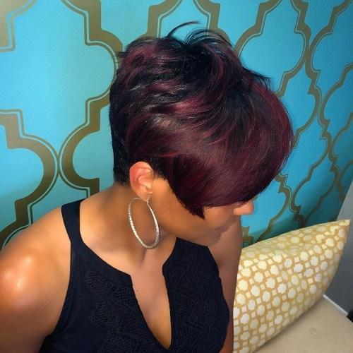 10-short-black-hairstyle-with-burgundy-balayage