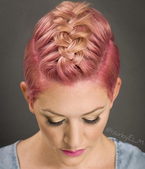 10-short-pastel-pink-hairstyle-with-a-braid