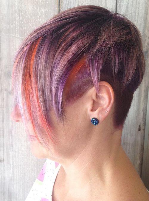 10-short-pastel-purple-hair-with-orange-peekaboo-highlights
