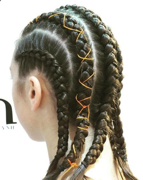 11-five-braided-rows-sporty-hairstyle