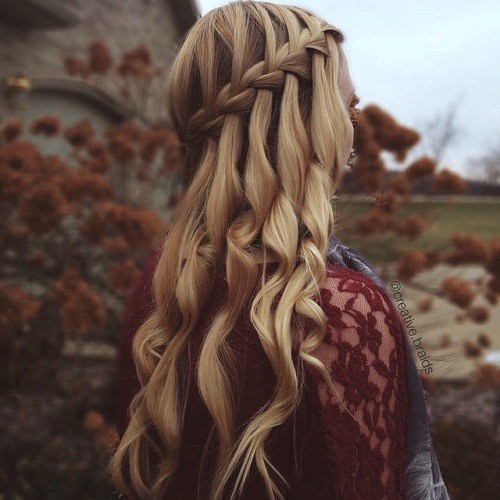 11-polish-half-updo-with-waterfall-braid-and-curls