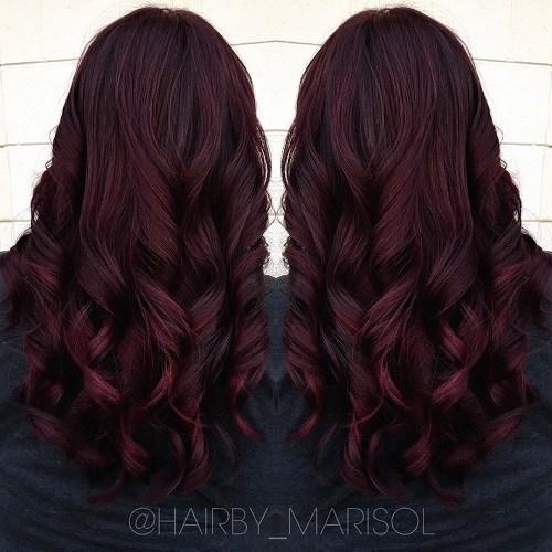12 Dark Burgundy Hair With Highlights