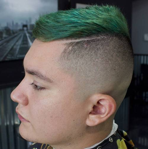 14-funky-fade-with-green-top