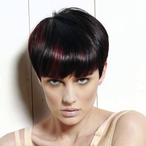 16-short-black-hairstyle-with-burgundy-peekaboo-highlights