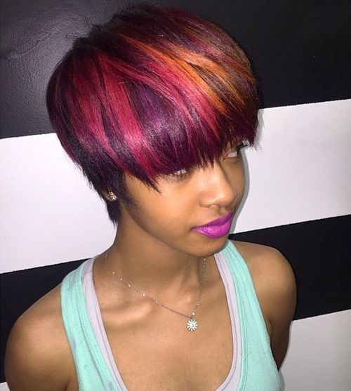 17-short-choppy-hairstyle-with-pink-and-orange-highlights