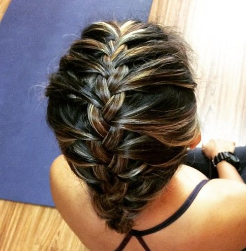 17-simple-french-braided-workout-updo