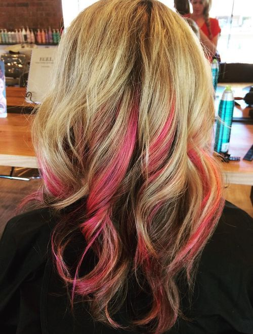 20 pretty ideas of peek a boo highlights for any hair color page 2 2 pink peekaboo highlights solutioingenieria Images