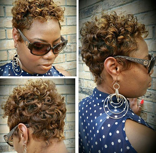 5-African-American-short-curly-golden-brown-hairstyle
