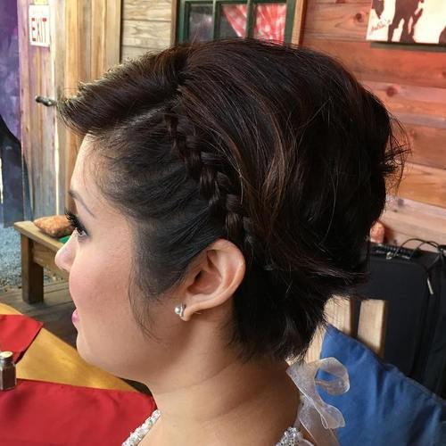 7-short-hairstyle-with-a-bouffant-and-side-braid