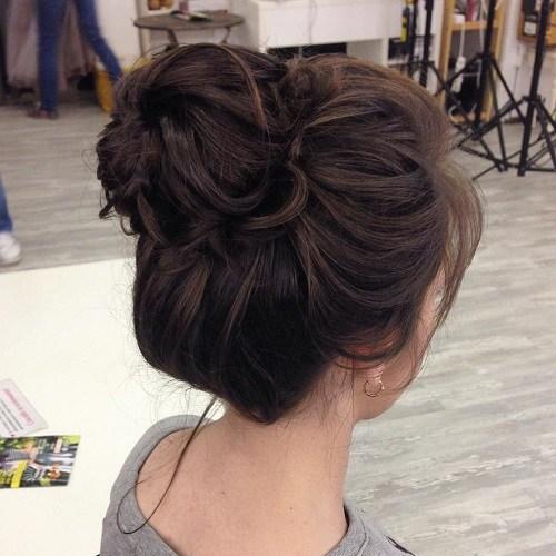 8-messy-brunette-top-knot-bun