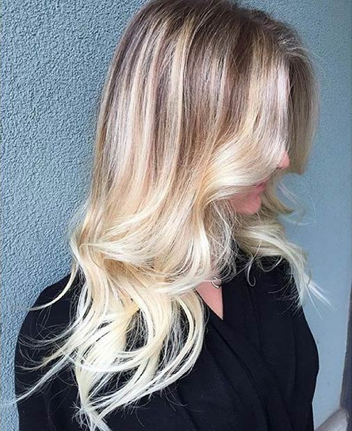 1 Blonde Balayage Hair Look