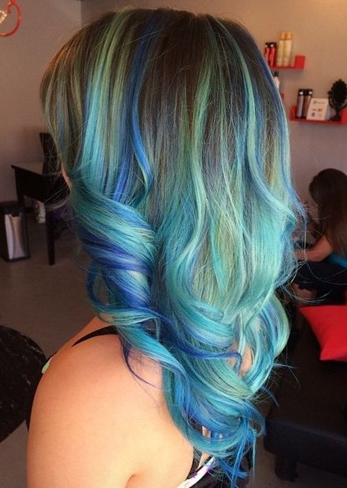 11-blue-and-teal-balayage-for-brown-hair