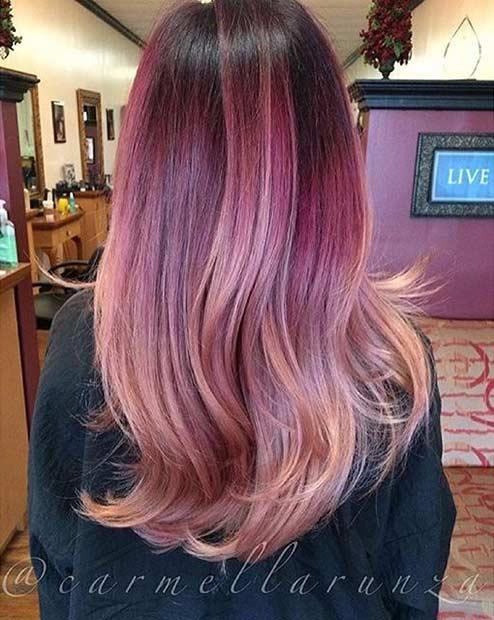 12 Caribbean Sunset Hair Color Idea