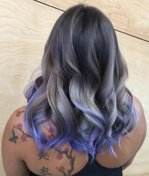 13-ash-blonde-and-purple-balayage-for-dark-brown-hair