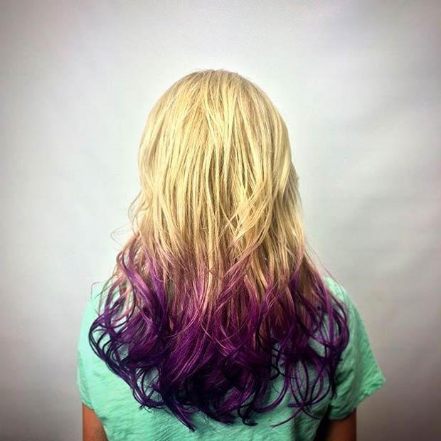 14-Blonde-to-Purple-Dip-Dye-Hair