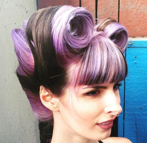 15-funky-lavender-and-pink-highlights-for-brown-hair