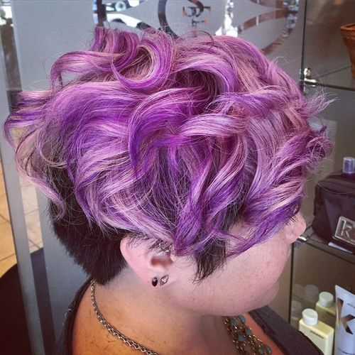 20 versatile ideas of purple highlights for blonde brown and red 15 short undercut hairstyle with pastel purple top pmusecretfo Choice Image