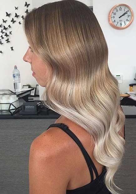 16 Dark Blonde to Light Blonde Hair Blend