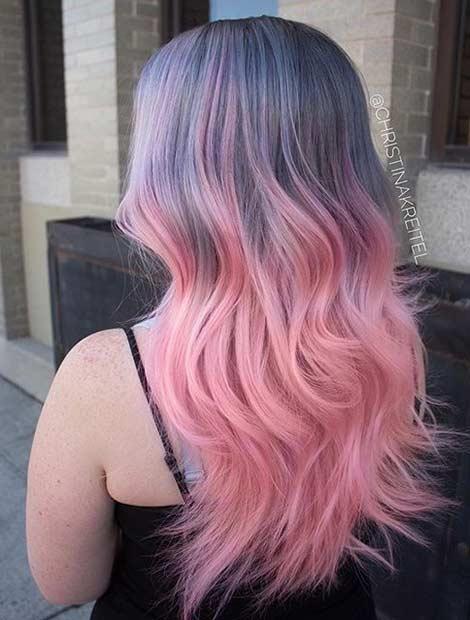 Pastel Pink Hair Color Ideas