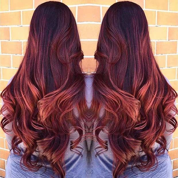 21 Amazing Dark Red Hair Color Ideas Page 17 Foliver Blog