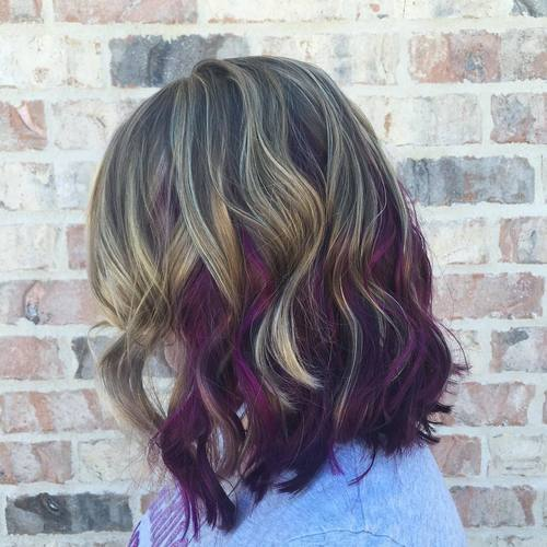 16-long-brown-bob-with-blonde-and-purple-highlights