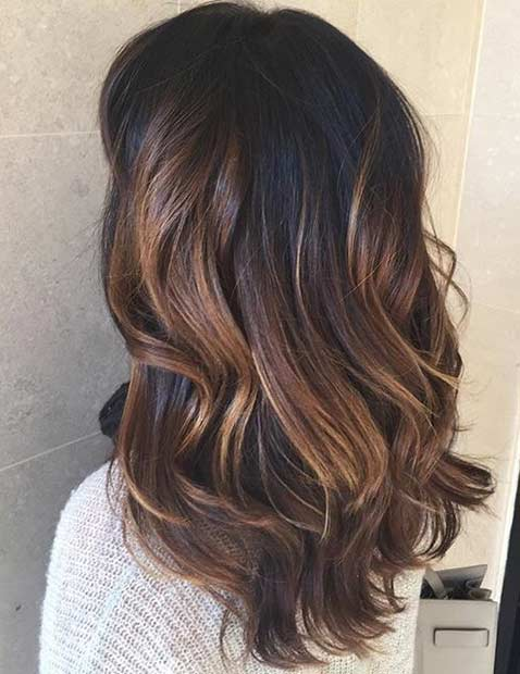17 Light Chocolate Brown Balayage Highlights for Dark Hair