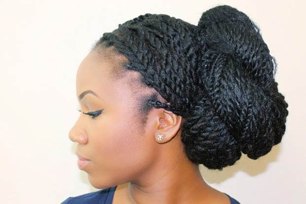 18 kyss my hair Senegalese Twists Updo