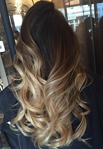 19 Blonde Balayage Ombre for Dark Brown Hair