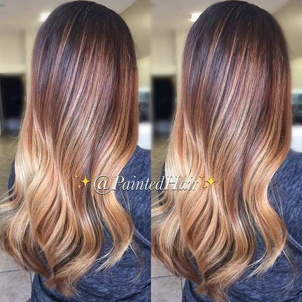 20 Caramel and Golden Blonde Hair Color Blend