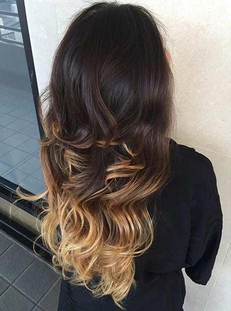 21 Golden Blonde Highlights on Dark Hair