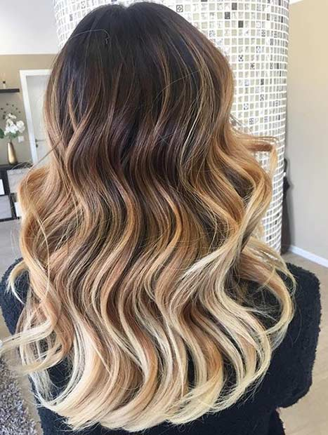 23 Caramel and Blonde Balayage Highlights for Dark Brown Hair