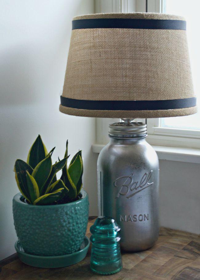 24 Mason Jar Lamp