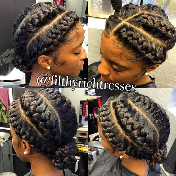 31 Goddess Braids Hairstyles For Black Women Page 31