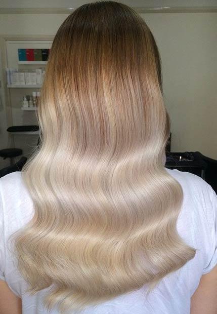 31 Subtle Platinum Blonde Balayage