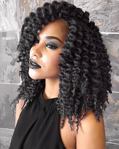 Crochet Hair Process : braid your hair with synthetic hair to give it an added level of ...