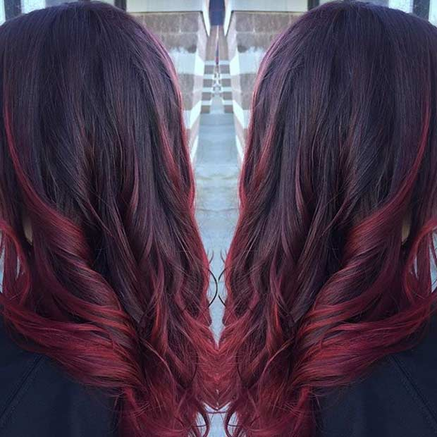 Close Up Of Wavy Red Hair